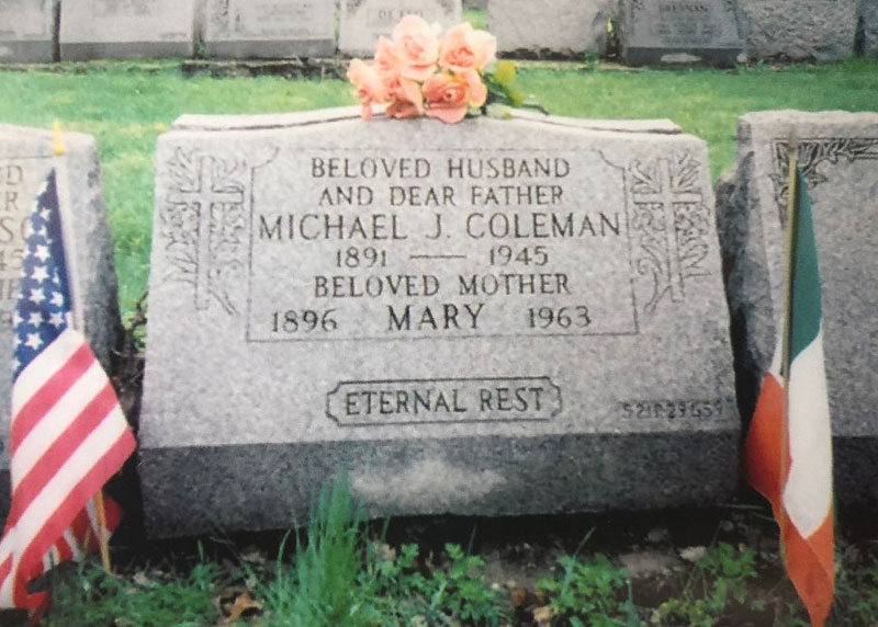 Michael Coleman's Grave, St Raymonds Cemetary, The Bronx, New York