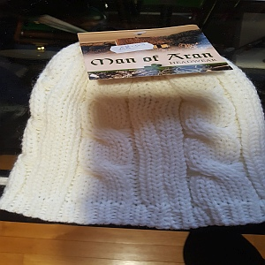 Man Of Aran Headwear White