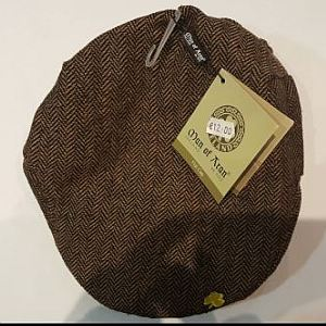 04b0f896c Man Of Aran Flat Cap Brown