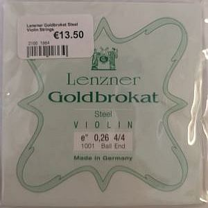 Lenzner Goldbroket Steel Violin Strings
