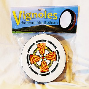 "Bodhran - Vignoles - 10"" Design - Irish"
